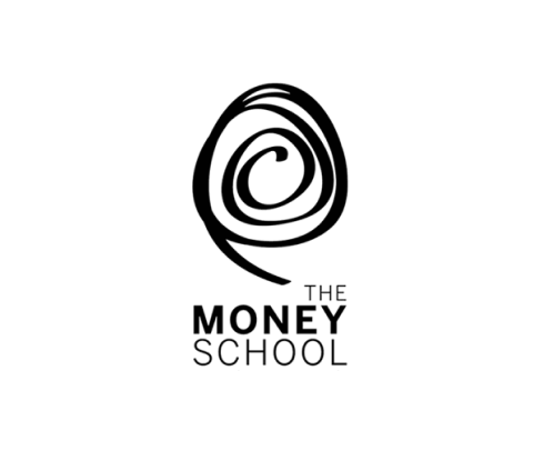 Money school logo bw