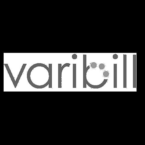Varibill logo  greyscale